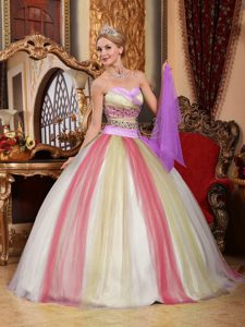 Ball Gown Sweetheart Quinceanera Dress in 2012 with Beadings in Multi-color