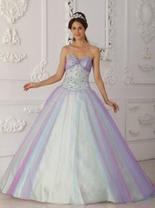 Tulle Beading Sweetheart Lace Up Back Multi-Color 2013 Quinceanera Gown