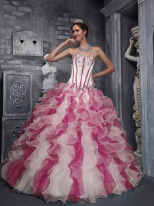 Gorgeous Sweetheart Quinceaneras Dresses in and Organza with Appliques