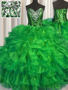 Modest Floor Length Lace Up Sweet 16 Quinceanera Dress for Military Ball and Sweet 16 and Quinceanera with Beading and R