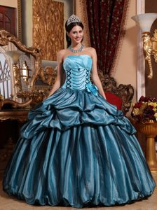 Ball Gown Strapless Cheap Quinceanera Gown Dresses with Flowers