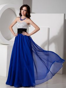 Special Sweetheart Beaded Betty Celebrities Dress in Royal Blue and Black
