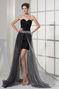 Asymmetrical Sweetheart Evening Dresses Under 100 with Beaded Ribbon