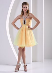 Lovely Beaded Straps Short Prom Cocktail Dress in Organza with Ruching with Lace Up