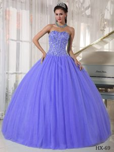 Boning Details for Sweetheart Beading Lilac Quinceanera Dresses