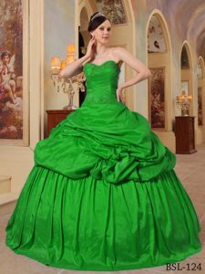 for Ball Gown Sweetheart Beading 2013 Quinceanera Dress in Green