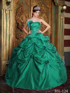 Green Strapless Quinceanera Dresses