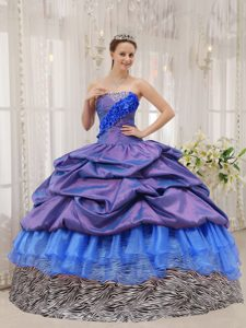 Exclusive Ball Gown Strapless Beaded Quinceanera Dress with Pick Ups