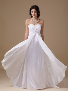 Empire Sweetheart Bridal Wedding Dress and with Floor-length