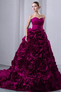 A-line Sweetheart Ruched Quinceanea Dresses