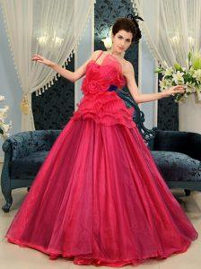 A-line Organza One Shoulder Sweet 16 Quinceanera Dresses