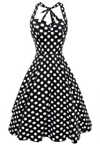 White And Black Mother Of The Bride Dress Prom and Party and For with Pattern Scoop Sleeveless Backless