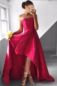 Luxury Sleeveless Asymmetrical Pleated Zipper Celebrity Inspired Dress with Fuchsia