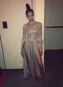 High Quality Grey Evening Gowns Prom and For with Beading Scoop Long Sleeves Zipper