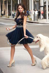 Scoop Appliques Prom Dress Navy Blue Zipper Sleeveless Knee Length