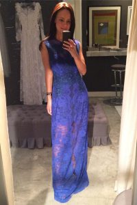 Clearance Scoop Royal Blue Lace Zipper Prom Gown Sleeveless Floor Length Lace