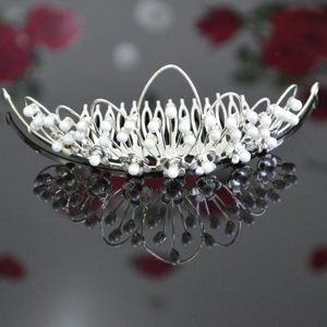 Imitation Pearls Decorate Beautiful Tiara