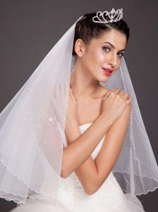 Fashionable Half Moon Shaped Tiara With Rhinestone Accents