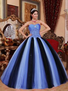 Multi-color Ball Gown Sweetheart Tulle Quinceanera Formal Dress with Beading