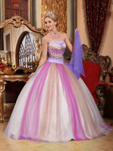 Multi-color Ball Gown Sweetheart Quinceanera Dresses with Beading