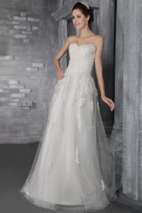 Empire Sweetheart Brush Train Wedding Dresses on Sale and Lace