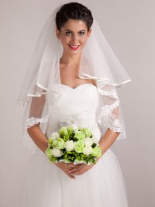 Pure Green/ White Round Shape Wedding Bouquet For Bride