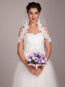Pretty Lavender Rose Hand-tied Wedding Bridal Bouquet