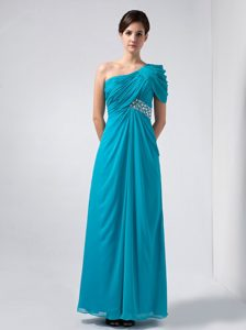 Perfect Baby Blue One Shoulder Wedding Guest Dress