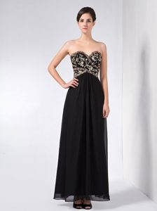 Cheap Black Sweetheart Wedding Guest Attires in Ankle-length