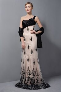 Champagne Inexpensive Wedding Guest Dress with One Shoulder