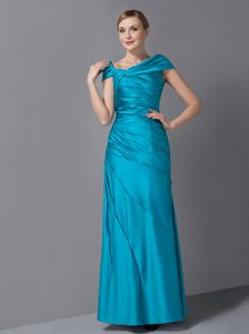 Teal Asymmetrical Wedding Guest Dress in on Promotion