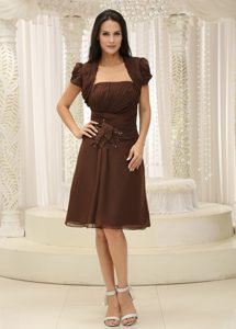 Sweet Ruched Semi-formal Wedding Guest Dress with Strapless