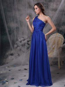 Discount Royal Blue One Shoulder Wedding Guest Dresses