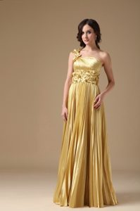 Cute Empire One Shoulder Wedding Guest Dresses in Elastic Woven Satin
