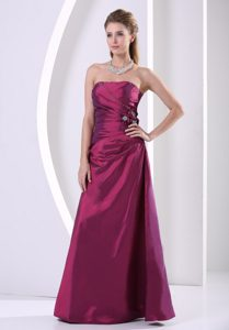 Purple A-line Strapless Wedding Guest Dress for Wholesale Price