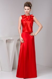 High-neck Long Nice Wedding Guest Attire in Elastic Woven Satin
