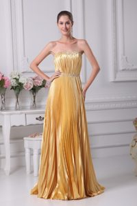Cheap Strapless Beaded Wedding Guest Dress with Pleating and Ruching