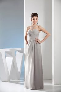 Low Price Gray Empire Chiffon Wedding Guest Outfits with Sweetheart