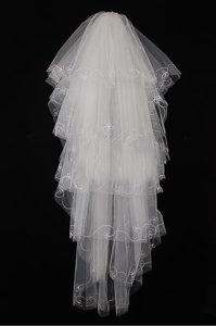 Five Layers Tulle For Fingertip Veil
