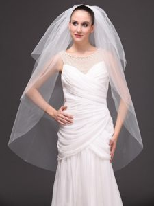 Three-tier Tulle Drop Veil For Wedding On Sale