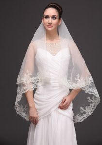 Lace Tulle Discount Bridal Veils For Wedding