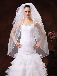 Beautiful Four-tier Organza Wedding Veil
