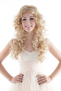 Long High Quality Synthetic Blonde Wavy Hair Wig