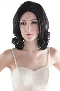 Short Human Hair Black Curly Hair Wig