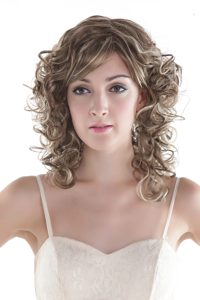 Sexy Mixed Color Short Synthetic Curly Hair Wig