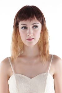 Mixed Color Medium High Quality Synthetic Hair Wig