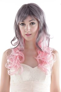 Fairy Gray/ Pink Long High Quality Synthetic Hair Wig