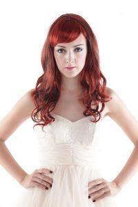 Medium Long High Quality Synthetic Auburn Hair Wigs