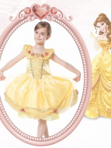 Scoop Clasp Handle Gold Sleeveless Beading and Hand Made Flower Knee Length Flower Girl Dresses