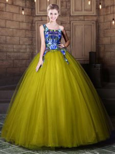 Exceptional One Shoulder Sleeveless Tulle 15 Quinceanera Dress Pattern Lace Up